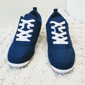 JustFab Shoes - NWT Navy Blue Tennis Track Shoes Sneakers